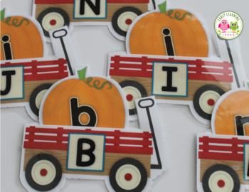 Pumpkin ABC and Initial Sound Matching for Preshool Pre-K and Kindergarten