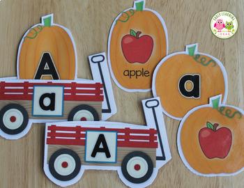 Pumpkin Activities Alphabet & Beginning Sound Sort