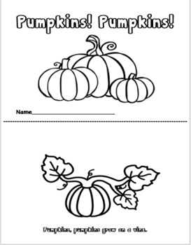 Pumpkins! Pumpkins! Emergent Readers