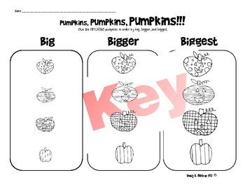Pumpkins Pumpkins Pumpkins!!! (Sequencing, Order)