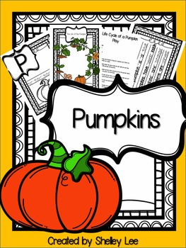 Pumpkins: Reading, Writing and Science with Life Cycles {PREK, KINDER, FIRST}