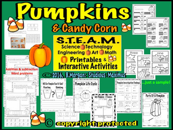 Pumpkins. STEM and STEAM Interactive Activities.
