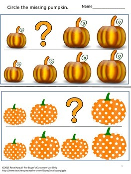 Sort by Size Pumpkins Cut and Paste Kindergarten Math Worksheets Morning Work