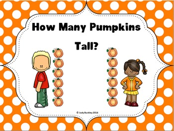 Pumpkins Tall Class book and Measuring Center