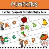 Pumpkins Task Box   Beginning Sounds Puzzles Activity