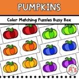 Pumpkins Task Box   Color Puzzles Activity