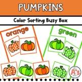 Pumpkins Task Box   Color Sorting Activity