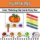 Pumpkins Task Box   Colors Clip Cards Activity