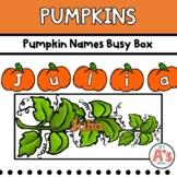 Pumpkins Task Box   Names Activity