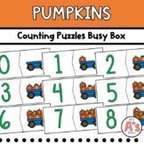 Pumpkins Task Box   Numbers and Counting Puzzles Activity