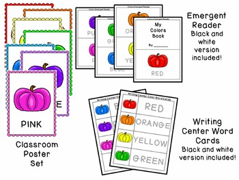 Pumpkins Color Recognition Activity Pack for Preschool