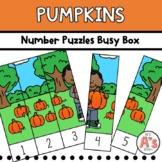 Pumpkins Theme Task Box   Number Puzzles Activity