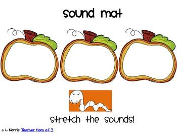 Pumpkins, Turkeys, Snowman Sound Mats for Phonemic Awareness