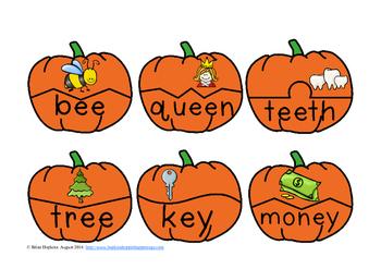 Pumpkins Vowel Pair Puzzles