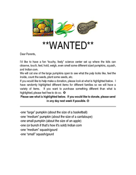 Pumpkins Wanted