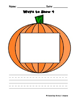 Pumpkins-Ways to Make a Numbe and Place Value Matsr