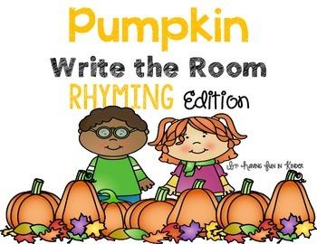 Pumpkins Write the Room - Rhyming Edition