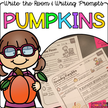 Pumpkins - Write the Room Writing Prompts {Print on Cardstock or Post It Notes}