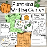 Pumpkins Writing Center, Word Wall Cards, Writing Prompts,