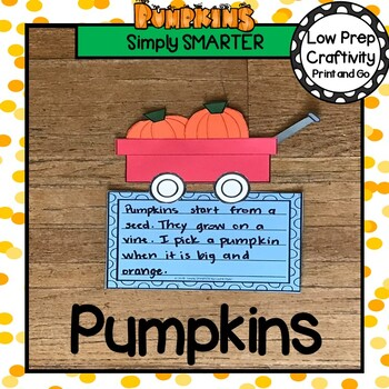 Pumpkins In A Red Wagon Writing Cut and Paste Craftivity