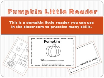 Pumpkins - an emergent reader