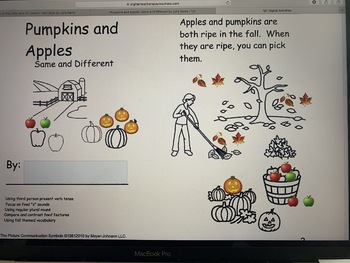 Pumpkins and Apples: Same and Different