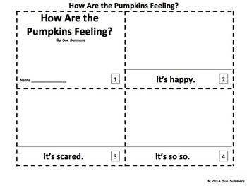 Pumpkins and Feelings 2 Emergent Reader Booklets - ENGLISH
