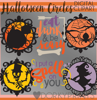 Eat, Drink, and Be Scary Halloween Clipart