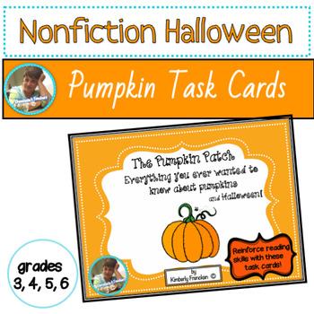 Pumpkins & Halloween Non-Fiction Task Cards