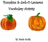 Pumpkins and Jack-O-Lanterns Vocabulary Mini Lesson