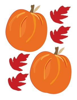 Pumpkins and Leaves Accents Pack