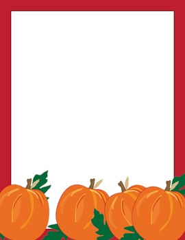 Pumpkins and Leaves Computer Paper 12 pack