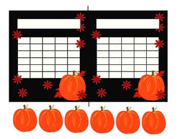 Pumpkins and Leaves Student Incentive Charts (2 Plus Tokens)