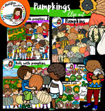 Pumpkins clip art bundle- 180 items!