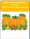 Pumpkins in a Pumpkin Patch-more than just a Jack O Lantern! 4 activities