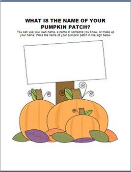 Pumpkins in a Pumpkin Patch-more than just a Jack O Lantern! 4 activities