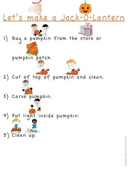 Pumpkins in the fall & Visual Jack-O-Lantern How-to