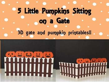 Pumpkins on a Gate Rhyme with 3D Gate and Pumpkins, Music and Movement Activity