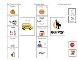 Pumpkins on the Bus. Halloween. Visual Communication.