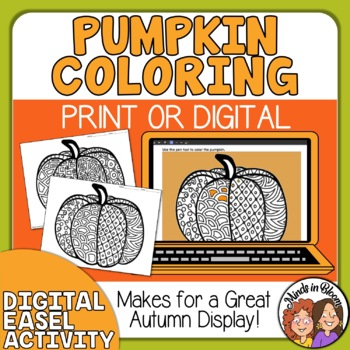 Pumpkins to Color! Great for Halloween or Anytime in Autumn! FREE