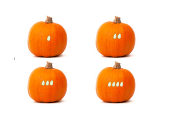 Pumpkins with Counting Seeds (0-10)