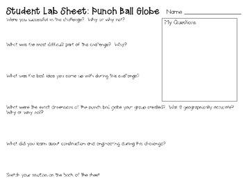 Punch Ball Balloon Globe ~ Engineering Geography ~ STEM Challenge