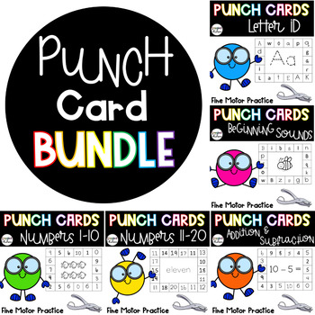 Punch Card BUNDLE {For the Entire Year!}