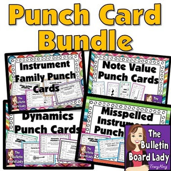 Punch Card Bundle for Music Class