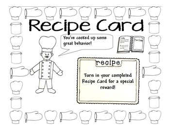 Punch Card (Cooking Theme)