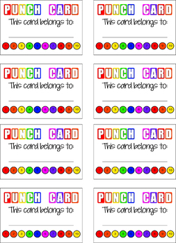 Punch Card Incentive