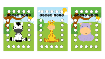 Punch Card - Jungle Theme