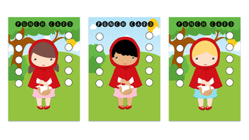Punch Card - Little Red Riding Hood Theme