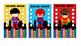 Punch Card - Superhero Theme