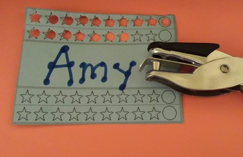 Punch Card Templates for Rewards PBS class management